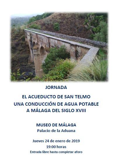 Jornada: El acueducto de San Telmo una conducción de agua potable a Málaga del siglo XVIII