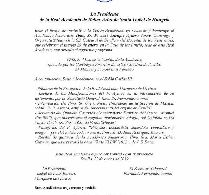 Homenaje al Ilmo. Sr. D. José Enrique Ayarra Jarne