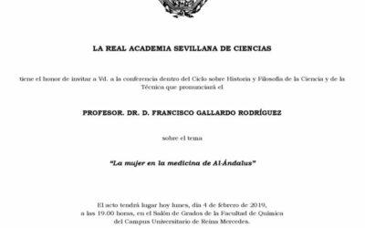"""Conferencia: """"La mujer en la medicina de Al-Ándalus"""""""