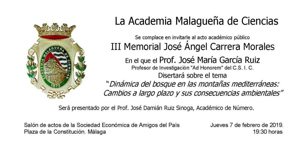 III Memorial José Ángel Carrera Morales