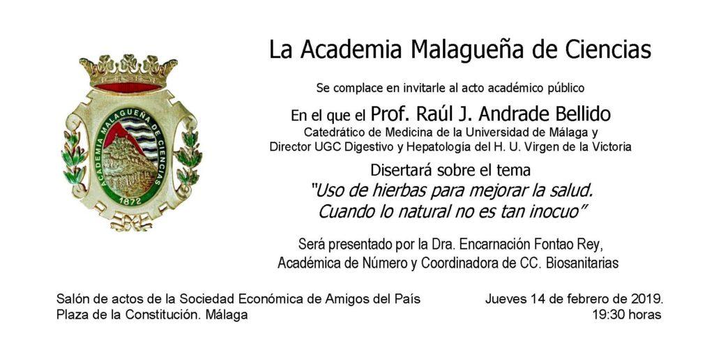 Conferencia: «Uso de hierbas para mejorar la salud. Cuando lo natural no es tan inocuo».