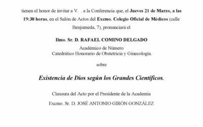"""Conferencia: """"Existencia de Dios según los Grandes Científicos"""""""