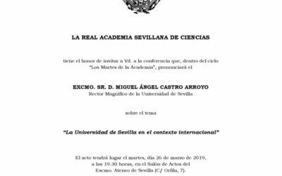 """Conferencia: """"La Universidad de Sevilla en el contexto internacional"""""""