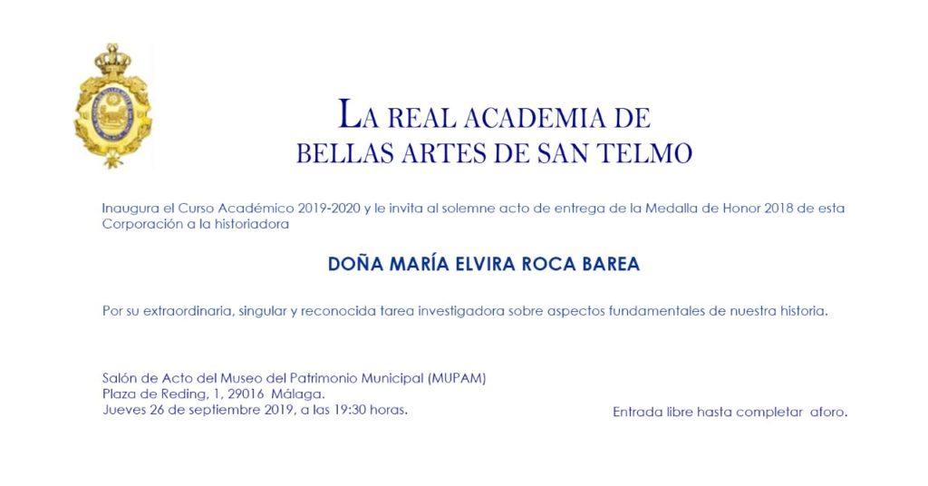 Inauguración del Curso Académico 2019-2020