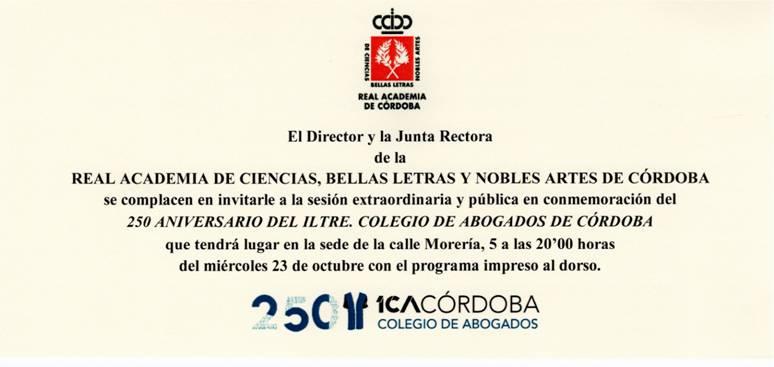 250 Aniversario del Iltre. Colegio de Abogados de Córdoba