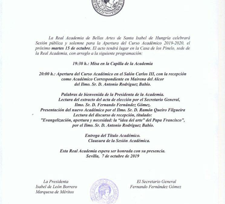 Apertura del Curso Académico 2019-2020