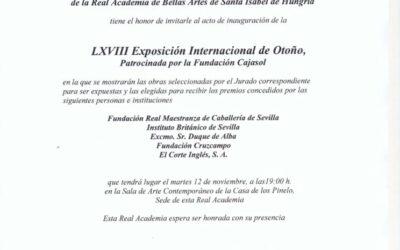Inauguración LXVIII Exposición Internacional de Otoño