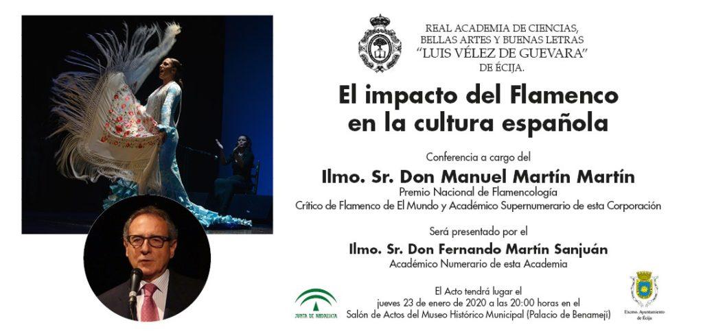 Conferencia: «El impacto del Flamenco en la cultura española».