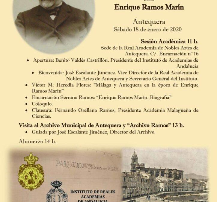 Jornada interacadémica sobre Enrique Ramos Marín