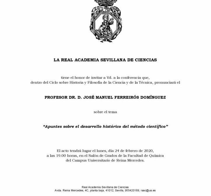 Conferencia: «Apuntes sobre el desarrollo histórico del método científico»
