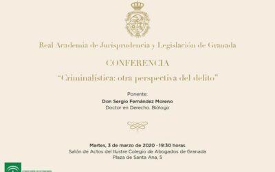Conferencia: «Criminalística: otra perspectiva del delito»