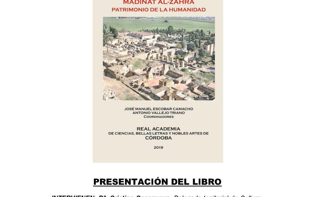 Presentación del libro: «Medinat Al-Zahra Patrimonio de la Humanidad»
