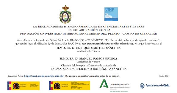 Diálogos Académicos: «Escribir es vivir: relatos en tiempos de pandemia»