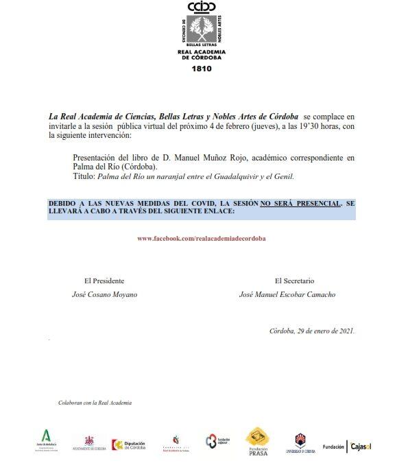 Presentación del libro: «Palma del Río un naranjal entre el Guadalquivir y el Genil»