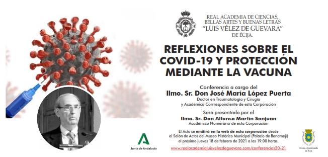 Conferencia: «Reflexiones sobre el Covid-19 y protección mediante la vacuna»
