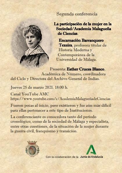 I Ciclo de Conferencias: Historia de la Sociedad/Academia Malagueña de Ciencias
