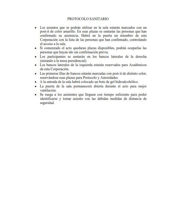Recepción como Académico Numerario del electo Ilmo. Sr. D. Herminio González Barrionuevo