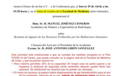 Conferencia: «Resumen de algunos de los Desastres Producidos por las Radiaciones Ionizantes»