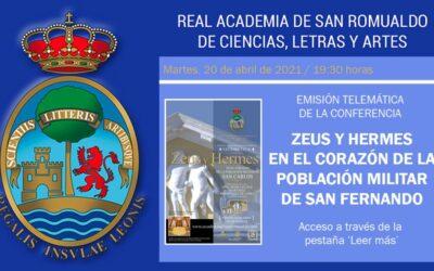Conferencia «Zeus y Hermes en el corazón de la población militar de San Fernando»