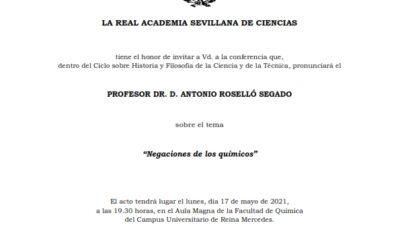 Conferencia: «Negaciones de los químicos»