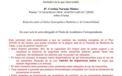 Recepción Académico Correspondiente de Dª. Cristina Naranjo Muñoz